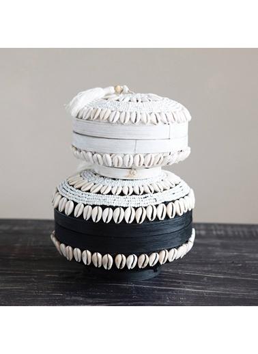 Warm Design Kapaklı El Yapımı Mücevher & Saklama Kutusu Beyaz
